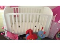 Lovely white cot for sale
