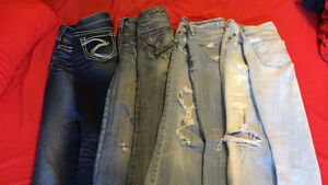 Silver and Abercrombie jeans