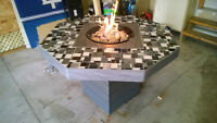 Patio Table with Propane Firepot