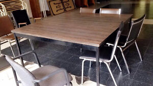 Board Room Table Square Seats 8