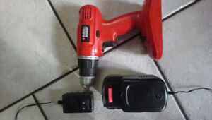 Black and Decker cordless Drill SPs 18 volt with charger