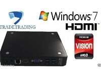 CHEAP FAST HDMI Mini PC AMD E 4GB RAM 60GB HDD HDMI Windows 7 WiFi Computer