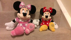 """Original Minnie mouse: 18"""" (pink $12) and 14"""" (red $10)"""