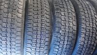 Uniroyal tiger paw snow and ice tires on rims