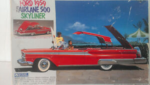 NEW BOX GUNZE SANGYO FORD 1959 FAIRLANE 500 SKYLINER 1/32 MODEL