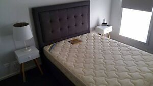 Queen bed with rollers base for sales Collingwood Yarra Area Preview
