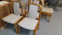 Set of Six Solid Teak Danish Dining Chairs