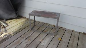 Small Vintage Solid Iron Table