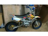 pitbike 120cc swaps car with mot