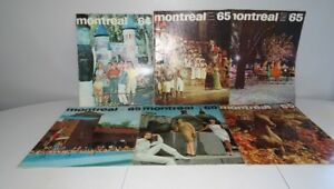 #1 Lot 6 Ancienne Revue Magazine Montreal 1964 / 1965