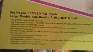 """2 TV Wall Mounts/ Support Mural 42""""-65"""""""