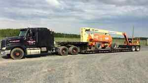Equipment Transporting Give us a call
