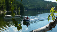 For Sale Whatshan Lake Waterfront lot, Warm Crystal Clear Lake!