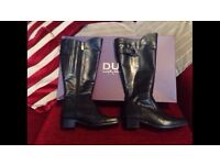 Black Duo Wide Calf Boots size 4