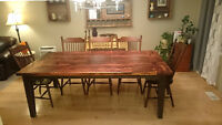 Reclaimed Solid Wood Harvest Table - NEW
