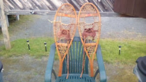 KIDS OR SMALL ADULT SIZE WOODEN SNOWSHOES