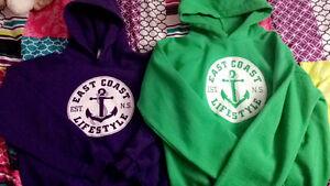 2 east coast lifestyle hoodies