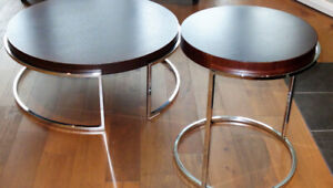 Contemporary Coffee Table & End Table