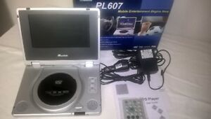 "PORTABLE 7"" DVD PLAYER LIKE NEW IN BOX - MUSTEK PL607"