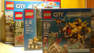 Lego City 60132+60124+60092, all brand new