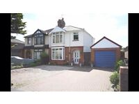 3 Bedroom semi detached house with detached garage/workshop