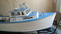Unique Giant Scale RP35 RC boat   trade for zodiac and motor