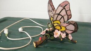 Butterfly Stained Glass Lamp...New never used..Reduced