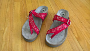 Red Mephisto women's sandals (brand new) - size 6