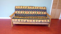 Double Bed Size Futon with Pine Frame