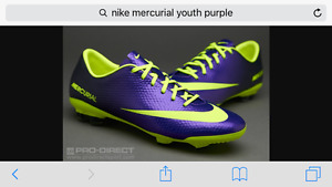 NIKE Mercurial youth size 2 soccer cleat  -$30