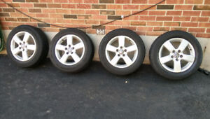 """VW 16"""" rims and tires"""
