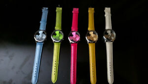 Authentic Five Mickey Mouse watches, all different colors