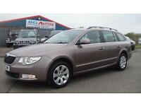 2010 10 SKODA SUPERB 1.9 TDI S ESTATE METALLIC GOLD