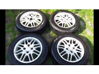 """15"""" Genuine Ford Alloys with Tyres"""
