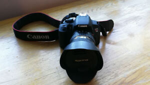 Canon t5i camera with tokina wide lens 11-20mm