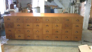 64 Drawer Mid Century Store Counter
