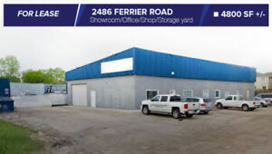 FOR LEASE:~4800 SF FERRIER ST Warehouse/Office/Storage Yard