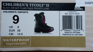 Waterproof Winter Boots for a girl - 3 years (size 9)