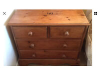 Solid pine bedroom set - 2 X chest of drawers & 2 X bedside cabinets - furniture Sutton sm3