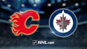 Flames Preseason - Jets & Sharks - 4 Seats Attack Zone Blue Line