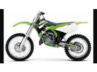 Wanted motor cross and any bikes up to 125 let me no what you got