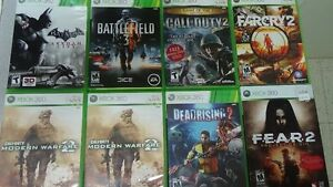 XBOX 360 GAMES  $5.00 Up