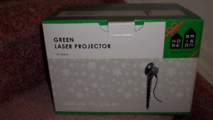 green laser projector - quick christmas light up and put away