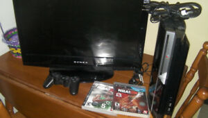 250 gb playstation 3 with 19 in screen all cords