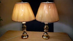 Polished Brass Lamps, Desk or Side Table