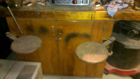 Work Bench with Swivel Seats