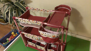 Doll Nursery Twin Crib Bunk Bed Baby High Chairs Play Center