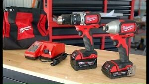 Milwaukee Hammer Drill and Impact Driver 18v