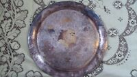 ANTIQUE VINTAGE LRG ROUND SILVERPLATE TRAY CHARGER WEDDING DECOR