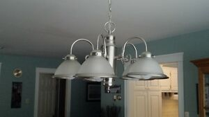 Five Light Hanging Fixture, Brushed Nickle/Pewter Finish